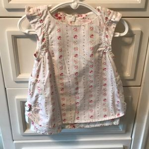 Janie and Jack floral dress - size 0-6m